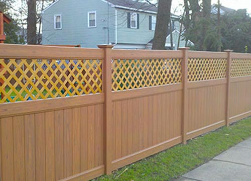 image of vinyl fence