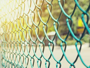 image of chain link fence