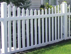 image of PVC fence