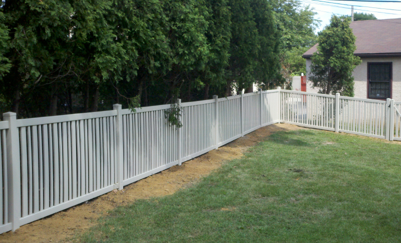 pvc vinyl fence almond fairfield ardmore pa 19003