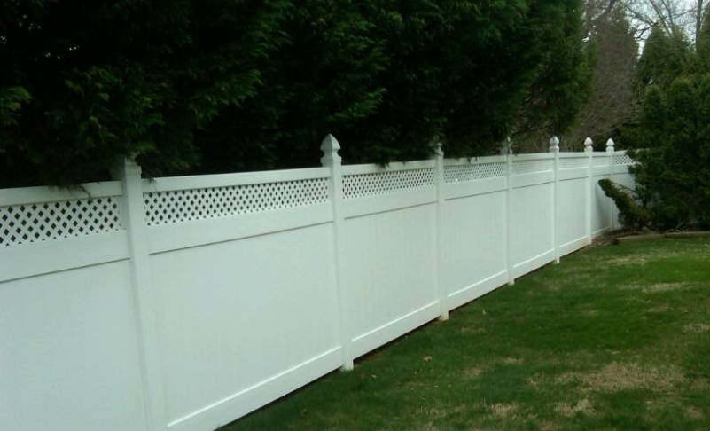 pvc vinyl fence Georgetown with lattice ardmore pa 19003