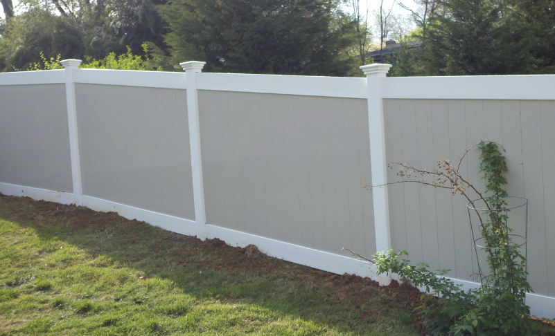 pvc vinyl fence Newport two toned ardmore pa 19003