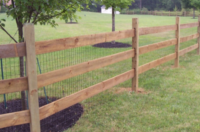 Post and Board wood fence Ardmore PA
