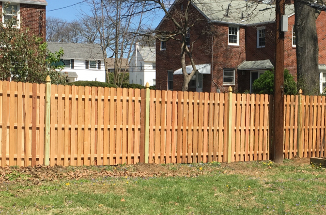 wood fence shadow box ardmore pa